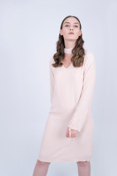 V-neck Dress pink