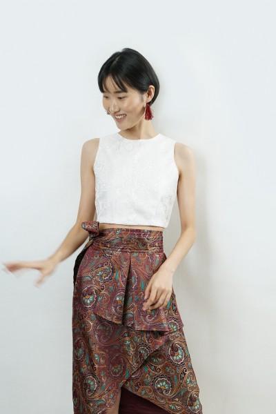 Obi oriental wrap skirt