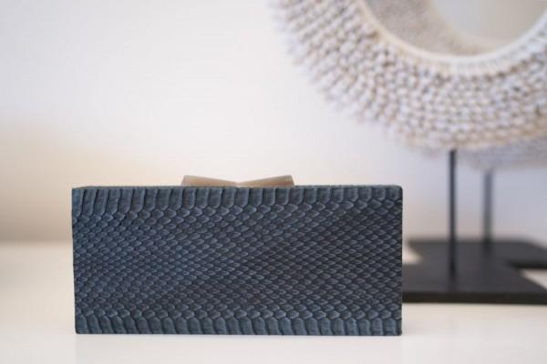 Minaudière Clutch Bag - Pyramid Cut - Cool Grey