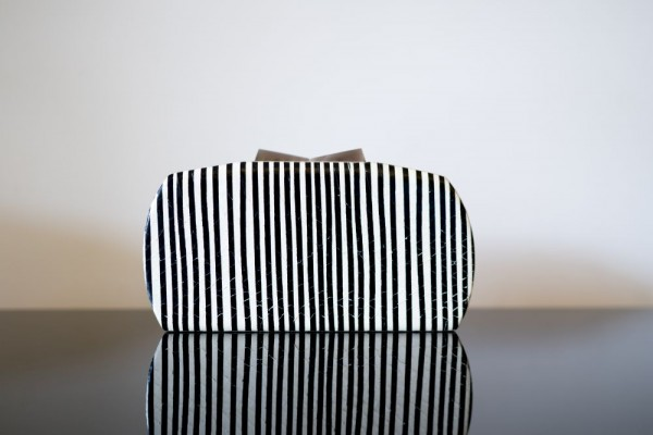 Minaudière Clutch Bag Black & White Zebra Stripes Limited Collection