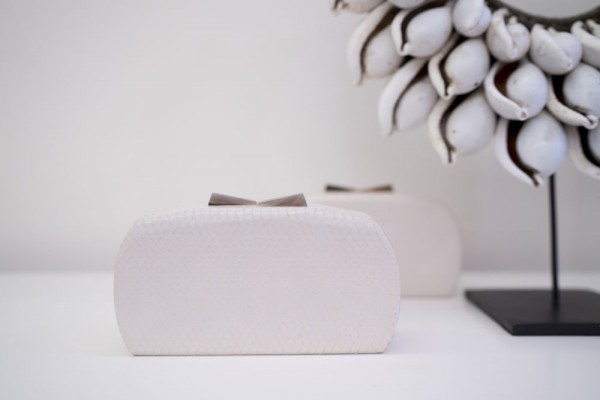 Minaudière Clutch Bag Pearl White Limited Collection