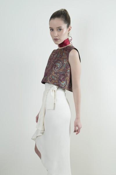 Orientalische Bluse burgunder