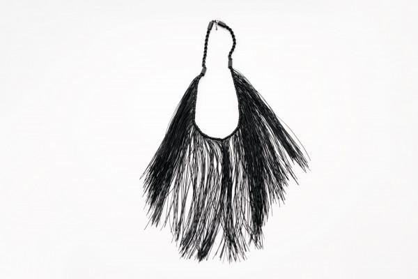 Fringed Necklace Black