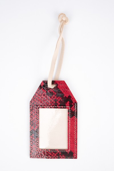 LUGGAGE NAME TAG RED & BLACK