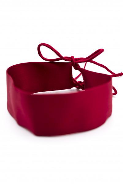 Silk Ribbon Choker red
