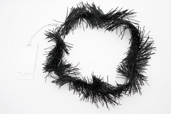 Fransen Halsband Schwarz